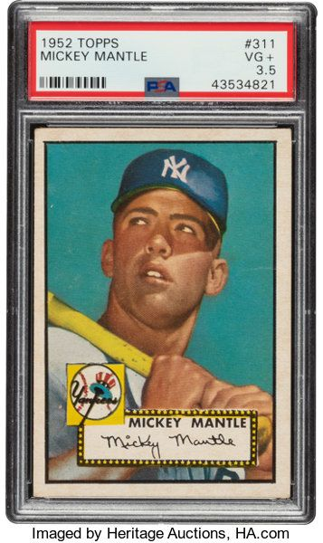 Baseball Cards Singles 1950 1959 1952 Topps Mickey Mantle 311 Psa Vg 3 5 Old Baseball Cards Mickey Mantle Rare Baseball Cards