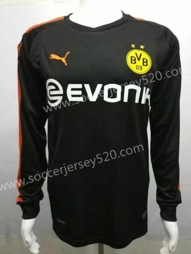 c279ef646 2017 18 Borussia Dortmund Goalkeeper Black LS Thailand Soccer Jersey ...