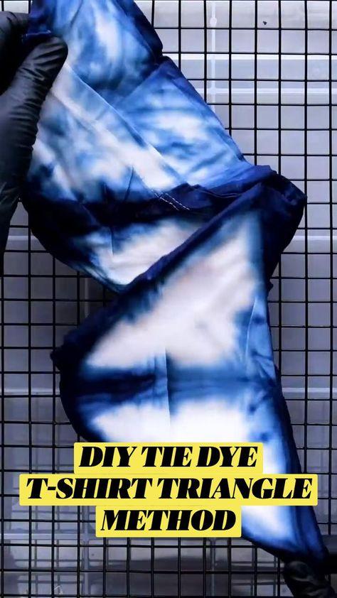DIYTIE DYE T-SHIRT TRIANGLE METHOD
