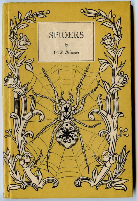 """I love spiders and have been seeing them everywhere this late summer. """"Spiders"""" from sports one of the decorative covers that were the trademark of Penguin books King Penguin series, published in Britain between 1939 and Book Cover Art, Book Cover Design, Book Art, King Penguin, Penguin Books, Vintage Book Covers, Vintage Books, Old Books, Antique Books"""