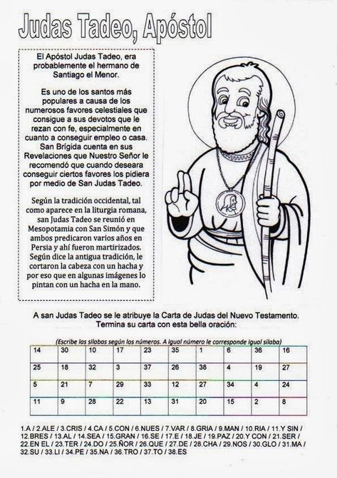 La Catequesis (El blog de Sandra): Recursos Catequesis San Judas Tadeo Apóstol