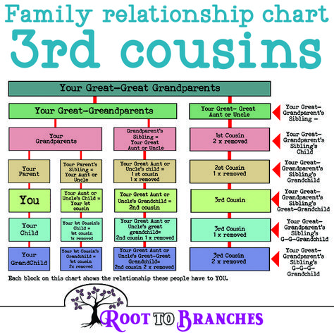 Genealogy Charts- Family relationship chart cousins Understanding cousin relationships can be tough. cousin once removed? What does removed even mean? Join me while we break down the cousin relationship. Genealogy Forms, Genealogy Chart, Genealogy Sites, Family Genealogy, Genealogy Humor, Family Relationship Chart, Cousin Relationships, Relationship Advice, Healthy Relationships