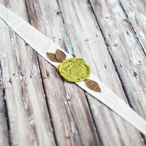 Don't get pinched! Green Rose Headband on SALE $9.99