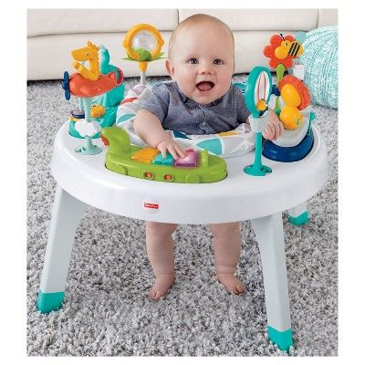 Fisher Price 2 In 1 Sit To Stand Activity Center Safari Baby Activity Center Activity Centers Fisher Price