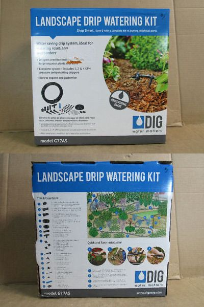 Drip Irrigation 139909 Dig Irrigation Systems Drip Irrigation Watering Kit Blacks G77as New Buy It Now Only 17 79 On Drip Irrigation Irrigation Watering