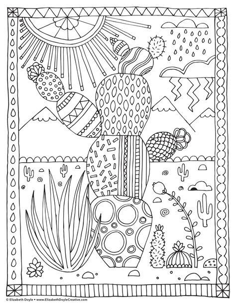 Free Coloring Page Elizabeth Doyle Boyama Sayfalari Desenler Mandala