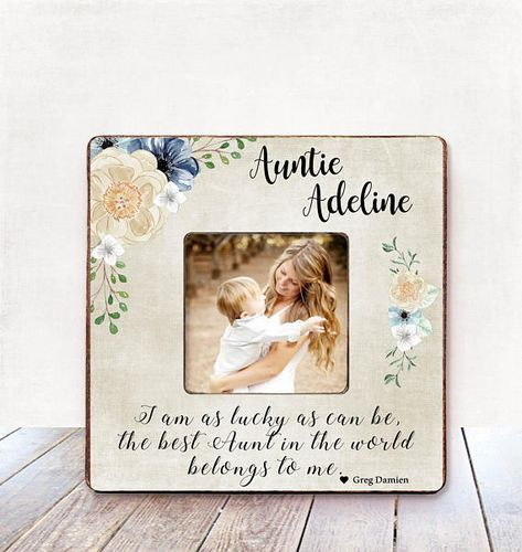 Aunt Christmas Gift Auntie BIRTHDAY Personalized Picture Frame From
