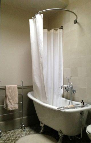 Design Circular Shower Curtain Rod No Ceiling Attach Baignoire