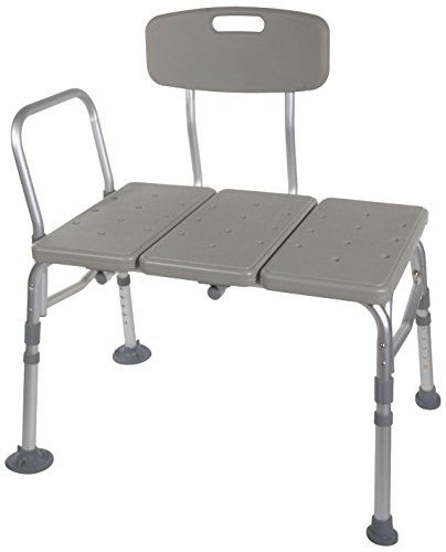 Transfer Bench Adjustable Height Legs Lightweight Plastic Benches For Bath Tub And Shower With Back Non Slip Seat Grey Transfer Bench Shower Bench Bath Bench