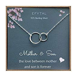 Your Always Charm Double Circle Knot Necklace,Two Interlocking Infinity Circles Gift for Best Friend