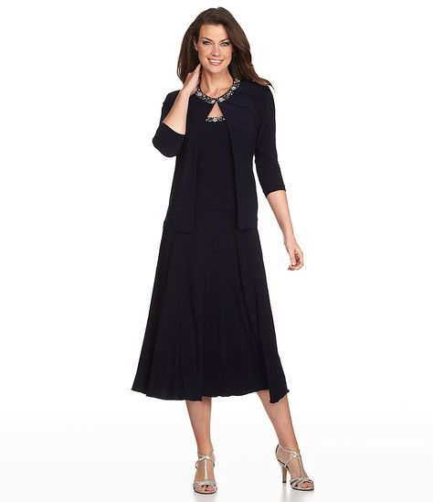 9b2238b9eab Alex Evenings Beaded Jacket Dress