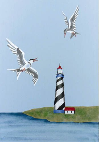 14 Lighthouse Craft and Wall Stencil Reusable Mylar