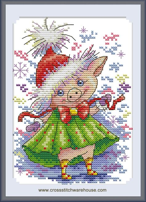 Christmas Snowman CaptainCrafts New Stamped Cross Stitch Kits Preprinted pattern Counted Embroidery Starter Kits for Beginner Kids and Adults Stamped 14CT