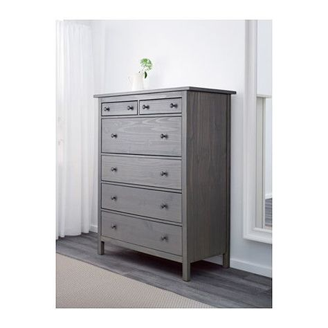 Ikea Cassettiere Camera Da Letto.Hemnes 6 Drawer Chest Gray Dark Gray Stained 42 1 2x51 5 8