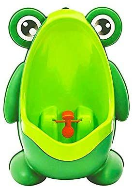 Amazon Com Frog Pee Training Cute Potty Training Urinal For Boys With Funny Aiming Target Green Ur In 2020 Potty Training Kids Kids Potty Kids Bathroom Accessories