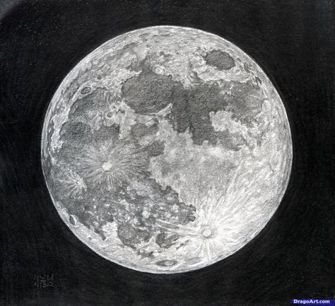 How To Draw The Moon Step By Step Art Ideas In 2019 Pinterest