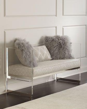 Bernhardt Merrilee Acrylic Bench | bedroom furniture in 2019 ...
