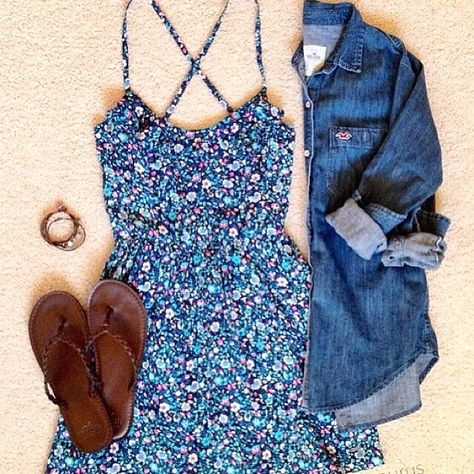 Love the mix of the shirt and dress.