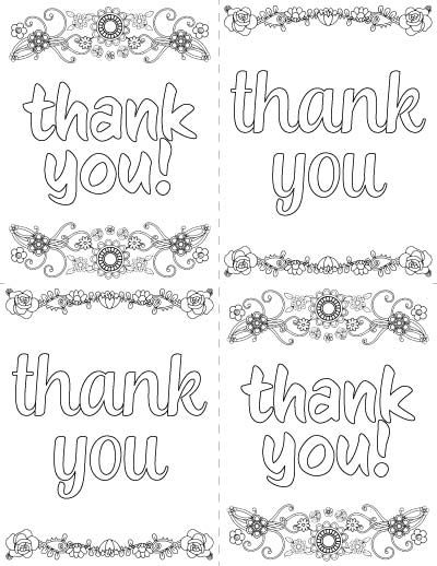 7 Free Printable Thank You Coloring Pages Printable Thank You Cards Printable Coloring Cards Free Printable Coloring Pages