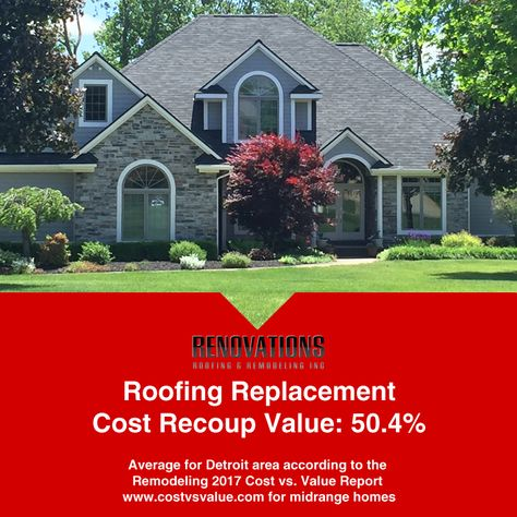 Factfriday Are You Thinking About Replacing Your Roof Curious If It Would Be A Good Investment If You Sell Your House Residential Roofing Roofing Remodel