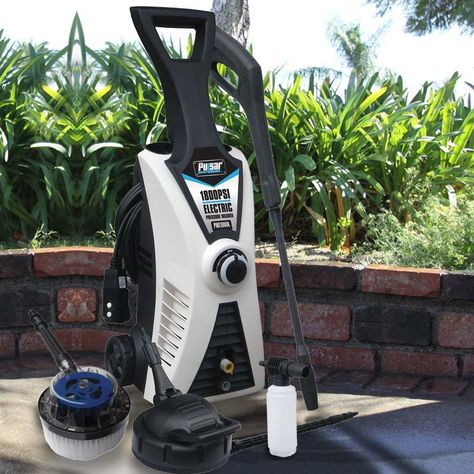 Do more work in less time with this 1800 PSI pressure washer. The 2 HP electric motor and durable pump have a long life and provide great performance. It has an automatic safety shutoff for protection and large wheels for greater mobility. Enjoy power, performance & portability at a great price.  #home #pressurewasher #clean #cleaning #homecleaning #roofcleaning #deals #sale #pressurewashing #roof