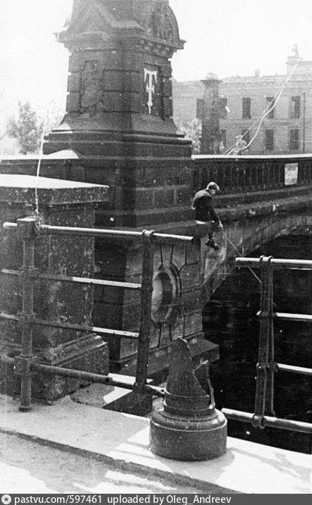 1950 Kleine Angler Auf Der Friedrichsbrucke Altes Museum Ruinen Historische Fotos