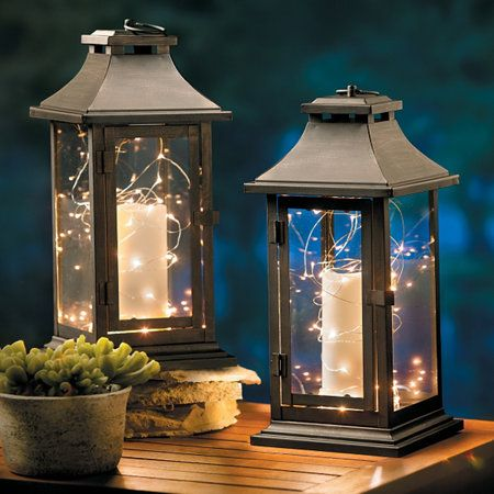 Theyu0027re As Easy As Adding An LED Candle And A Nest Of Battery Operated  String Lights To Lanterns. And Du2026 | Pinteresu2026