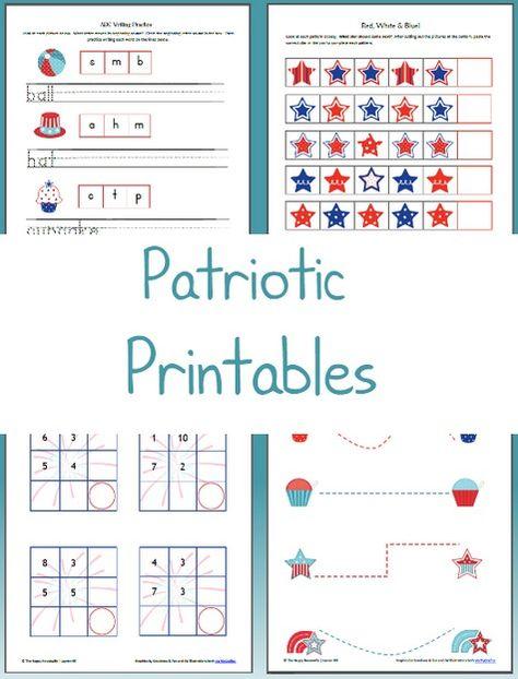Patriotic Worksheets: Free Printable Friday | Us Holidays | Pinterest