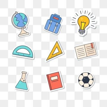 Size Ruler Hand Painted School Supplies School Start Cartoon Icon Paper Plane Football Book School Daily Supplies Essential School Png And Vector With Transp Cartoon Icons School Supplies School Cartoon