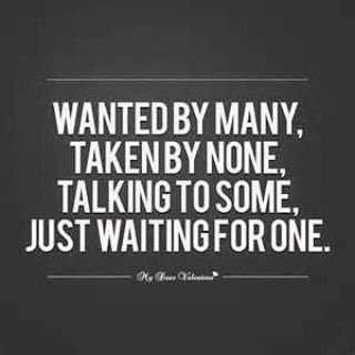 not single not taken just waiting for something real meaning in hindi