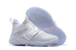 hot sale online 06418 118de Nike LeBron Soldier 12 Men's Basketball Shoes White in 2019 ...