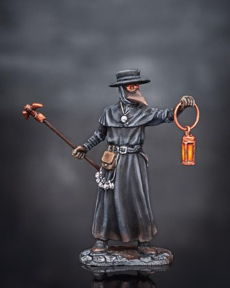 Toy Soldiers Painted PLAGUE DOCTOR Figure 54mm Medieval Civilian 1//32 scale Tin