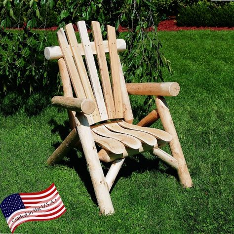 Clic Cedar Log Adirondack Chair
