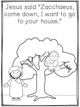 The Bible Story Of Zacchaeus Sunday School Coloring Pages Sunday School Preschool Zacchaeus