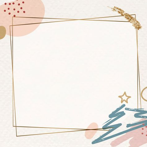 Gold frame on Christmas pattern background vector | premium image by rawpixel.com / Adj