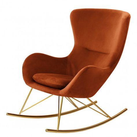 Schaukelsessel Skamby Samt In 2020 Schaukelsessel Sessel Und Lounge Stuhl