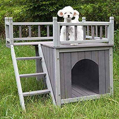 Aivituvin Wooden Dog Cat House Outdoor And Indoor Feral Pet Houses With Stairs For Dogs Insulated 2 Sto Outdoor Cat House Cat Condo Outdoor Cats