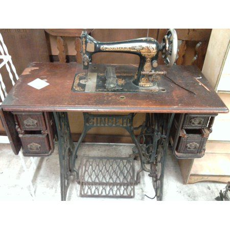 Framed Art For Your Wall Sew Machine Cabinet Singer Treadle Sewing 10x13 Frame Walmart Com Sewing Machine Vintage Sewing Machine Sewing Machine Drawers