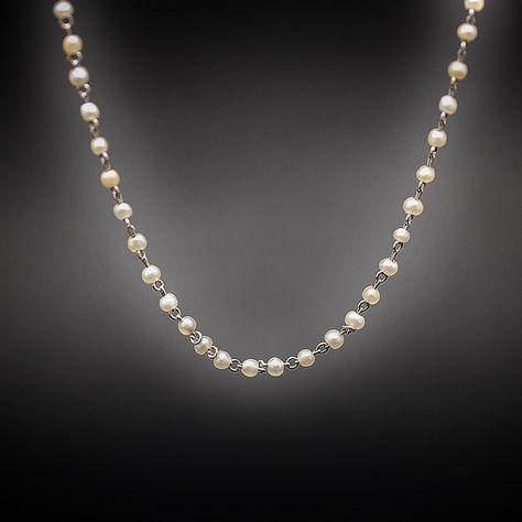 collier perle fines