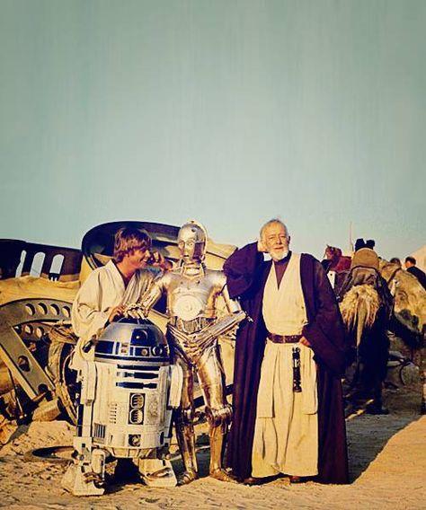 Star Wars: Luke Skywalker, R2D2, C3PO, & Old Ben Kenobe