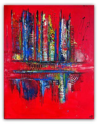 Lebendig Ii Acrylbild Rot Blau Abstrakte Kunst In 2020