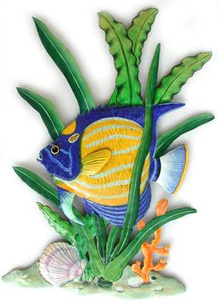 190 best Tropical Fish Wall Decor Painted Metal Wall Decor ...