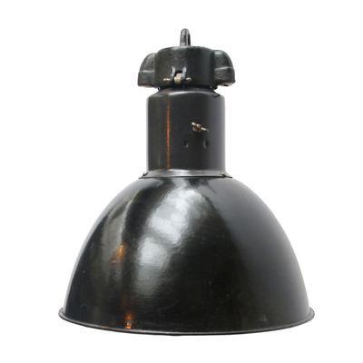 Vintage Industrial Black Enamel Pendant Light 1930s Industrial Pendant Lights Vintage Pendant Lighting Industrial Black Pendants