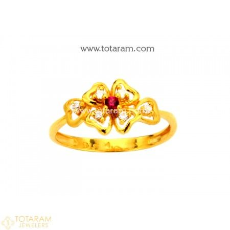 74e855fc5 22K Gold Ring For Women with Cz - 235-GR4071 - Buy this Latest Indian Gold  Jewelry Design in 2.400 Grams for a low price of $165.60