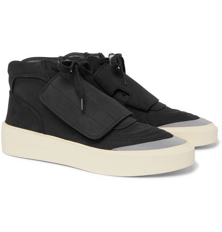 Fear Of God Sixth Collection Skate Mid Sneaker In Black Modesens In 2020 Suede High Top Sneakers Suede High Tops Sneakers