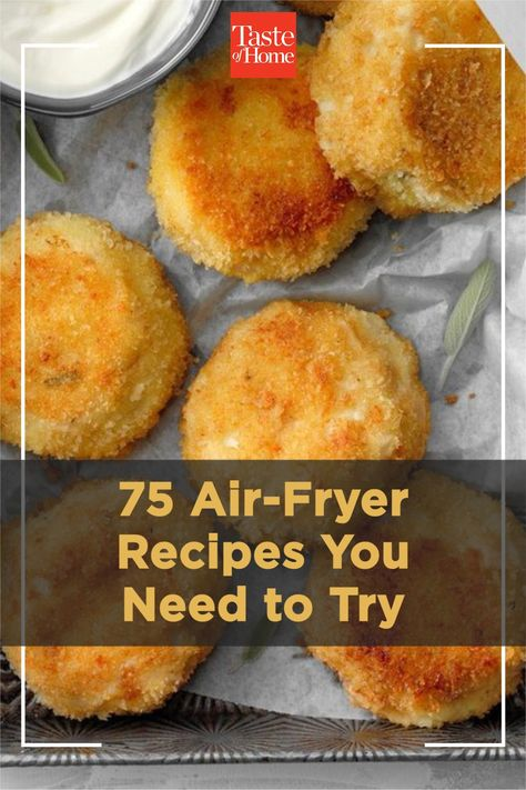 Check out these air-fryer recipes for crispy chicken wings, fried pickles, coconut shrimp—and desserts, too!