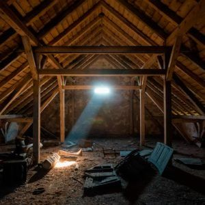 Saving Energy Blown In Insulation In The Attic Finished Attic Blown In Insulation Attic Renovation