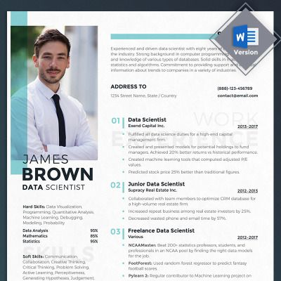 James Brown Data Scientist Resume Template 69713 Data Scientist Resume Template Scientist