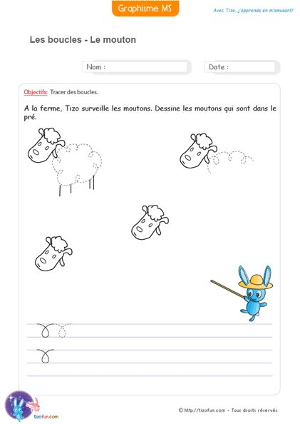 Bevorzugt Graphisme | Matern.3 MS : Graphisme/Ecriture Bâton | Pinterest  CK72