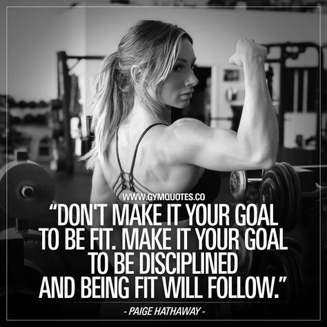 Hathaway quote: Dont make it your goal to be fit. Make it your goal. -Paige Hathaway quote: Dont make it your goal to be fit. Make it your goal. - The difference between wanting and achieving is discipline! Fitness Workouts, Yoga Fitness, Physical Fitness, Fitness Tips, Health Fitness, Planet Fitness, Fitness Outfits, Fitness Journal, Fitness Planner